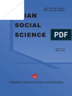 Asian Social Science - Vol. 5. No. 8 (2009)