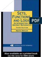 Devlin K.J. - Sets Functions and Logic an Introduction to Abstract Mathematics (Chapman & Hall-CRC, 3ed. 2004)