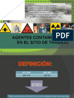 Agentes Contaminantes en El Trabajo