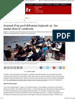 Journal d'un prof débutant (Épisode 4)