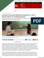 Journal d'un prof débutant (Épisode 5)