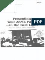 ASME Presentation Guideline