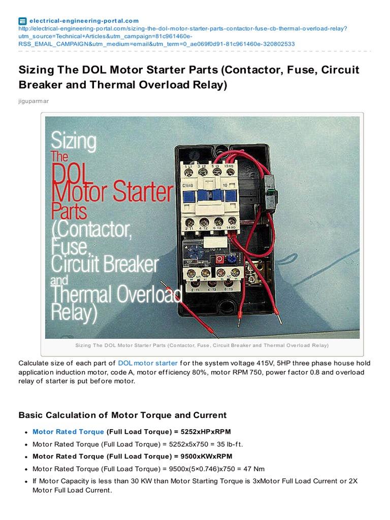 Motor Starter Fuse - Schematics Wiring Diagrams •