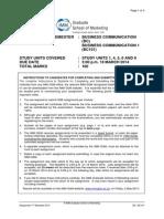 BC - Assign Q - 1-2014 - Business Communication