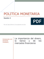 Politica Monetaria 2 Sesion