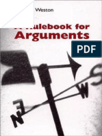 Rulebook for Arguments 3e 2000 a - Anthony Weston