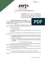 Ato n. 60-2011-Pgj - Regulamenta Movimentacao de Servidores