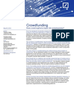 2014 DEUTSCHE BANK RESEARCH Crowdfunding, Does Crowd Euphoria Impair Risk Consciousness?