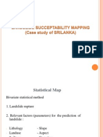 Lanslide Succeptability Mapping a Case Study of Srilanka