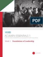 Acumen Essentials Wk 1