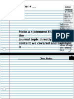 journal layout guide