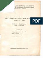Glasnik Zemaljskog Muzeja za 1955. godinu