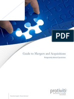 Guide to Mergers Acquisitions FAQs