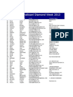 Us International Diamond Week August 2013 Buyers List
