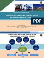 Konektivitas dan Sistem Logistik untuk Meningkatkan Daya Ekonomi
