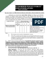 Notification ITBP Head Constable Posts