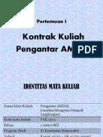 Kontrak Kuliah Pengantar Amdal 2014-2015