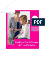Nutritional Plan to Reverse and Prevent Diabetes. - Treat Your Diabetes Without Medication.