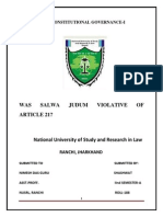 Was Salwa Judum Violative of Article 21
