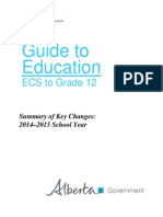 alberta guide to education-summary of key changes 2014