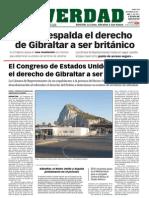 140922 La Verdad- EEUU respalda el derecho de Gibraltar a ser británico p.1, p.5