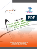 e InfraNet Open as the Default Modus Operandi for Research and Higher Education