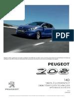14D 208 Tarif Peugeot