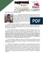 IU-Alcalá Hace Un Llamamiento a La Sociedad Alcalaina y a La Izquierda Social y Política a Crear GANEMOS ALCALA