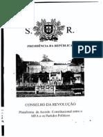 2º Pacto MFA-Partidos - 26 de Fevereiro de 1976