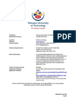 Requirements for Tshwane University of Technology