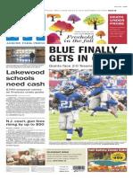 Asbury Park Press front page Monday, Sept. 23 2014