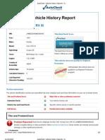 2009-11-20 CRX AutoCheck Report