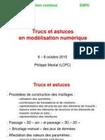 Trucs Et Astuces en Modélisation Numérique