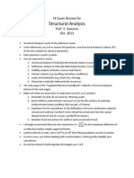 Review Fe Exam Structures Saouma