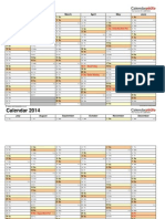 Calendar 2014 Landscape 2 Pages