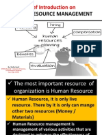 Brief Introduction on Human Resource Management