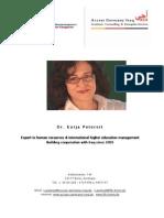 Expert Profile Dr. Petereit 1-2013