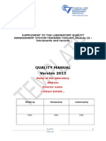 Quality Manual Template