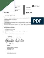Manual Utilizare Centura Lucru Pb-20