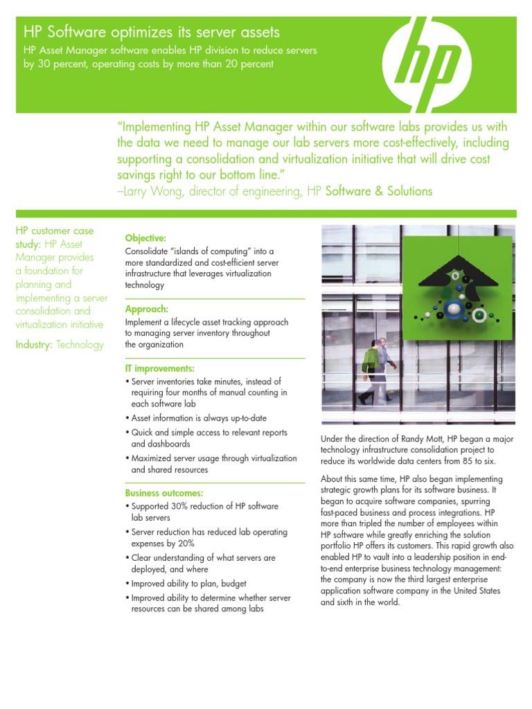 Hp Asset Manager Hewlett Packard Virtualization