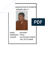 Profil Calon Ketua Rt 03 Rw 01 Dusun Sendang Arum Kesugihan Cilacap