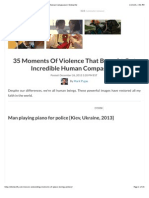 35 Moments Of Peace and violence together