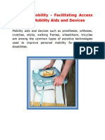 Personal Mobility - Facilitating Access to Quality Mobility Aids and Devices