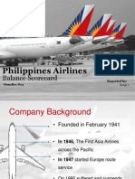 Philippines Airlines Balance Scorecard