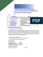 Informe Diario Onemi Magallanes 22.09.2014