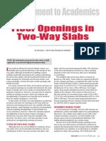 Opening in 2 Way Slab