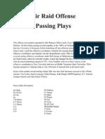 Air Raid Offense Pass Plays