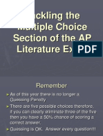 ap tackling the multiple choice section of the ap