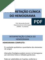INTERPRETAÇÃO CLÍNICA DO HEMOGRAMA Serie Vermelha.ppt