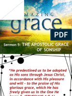 AMAZING GRACE Sermon 5 - The Apostolic Grace of Sonship